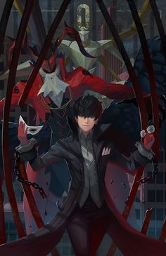 The Fool by yagaminoue on DeviantArt Persona 5 Joker, Shin Megami Tensei Persona, Akira Kurusu, Boku No Hero Academy, Pictures To Draw, Anime Style, Anime Guys, Character Design, Fan Art
