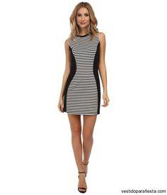 096e38816 Vestidos cortos de fiesta con rayas 2015 – 01 - https   vestidoparafiesta.