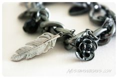 January 2014 Project DIY: Dark Romance Charm Bracelet. The finished piece looks super expensive! Price: USD $30/month -- #projectdiy #handmade #accessories #diy #jewelry #subscriptionbox #fashion #belt #bracelet