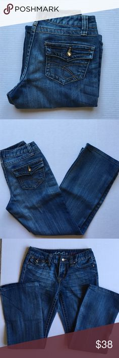 """📍New Listing📍INC Boot Leg Jeans You can never have too many pairs of jeans!  These jeans are comfortable and cute!   Dress down with a tank or dress up with a blazer.  Lots of options with jeans.  Material:  66% Cotton/33% Polyester/1% Spandex. Measurements:  Length - 37.5""""/Waist - 14.5""""/Inseam - 29@ INC International Concepts Jeans Boot Cut"""
