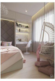 Room Ideas Bedroom, Small Room Bedroom, Trendy Bedroom, Bedroom Colors, Modern Bedroom, Bedroom Decor, Bedroom Furniture, Bedroom Loft, Master Bedroom