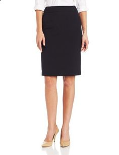 Calvin Klein Women's Straight Fit Suit Skirt, Navy, 14  Go to the website to read more description.