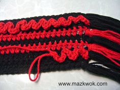 Parallel Love Scarf:  free pattern crochet ribbed scarf