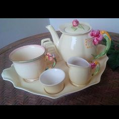 Rare breakfast set royal winton tyger lily