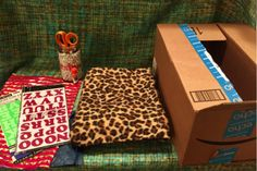 #cardboard to Make Your #Cat a Fabulous #bed  From a #Cardboard Box #pets #cats