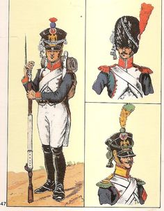 French; 42nd Line Infantry, Fusilier, Grenadier & Voltigeur, 1809