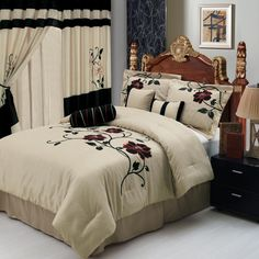 http://trainingjo.com/wp-content/uploads/2014/10/stunning-bedroom-cfurniture-sets-with-floral-pattern-bed-cover-and-drawer-nightstand-in-black-also-weathermate-broadstripe-black-beige-curtain-bedroom-including-frame-on-the-wall-idea.jpg