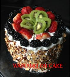 """Watermelon Fruit Cake with Frosting 