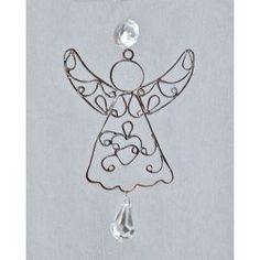 Crafted Creations Set of 4 Antique Style Egyptian Hand Crafted Wire Angel Christmas Ornament 5.75
