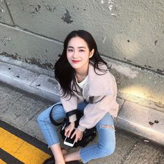 Makeup and a nice outfit - LikeALady. The Perfect Girlfriend, Korean Girl Photo, Beautiful Chinese Girl, Asian Makeup, Korean Makeup, Eye Makeup, Ulzzang Korean Girl, Who People, Korean Street Fashion