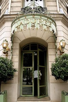 Laduree.  Been here a couple of times.  If you are ever in Paris, this shop is a must see!