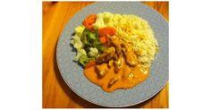 Hähnchengeschnetzeltes mit Tomaten-Käse-Sauce, Gemüse und Reis (WW), ein Rezept der Kategorie Hauptgerichte mit Fleisch. Mehr Thermomix ® Rezepte auf www.rezeptwelt.de