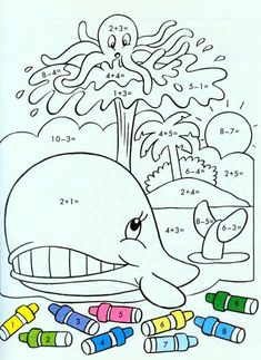 ❺ Наша начальная школа ❺ Preschool Math, Math Classroom, Kindergarten Math, Teaching Math, Math Worksheets, Math Resources, Math Activities, Mickey Coloring Pages, Coloring For Kids