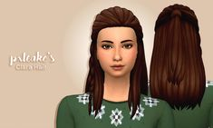 Clara Hair I wanted the Long Braid Wavy Hair from C&D to have a ponytail in the back (instead of a bun), so I decided to learn how to frankenmesh hair and do it myself! For someone who had no previous...