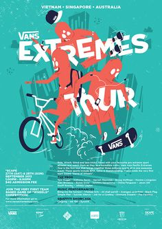 Extremes Tour is a final year project of mine while studying in Temasek Polytechnic Design School.This project started by gathering information from one of my interest, in thiscase, extreme sports. I noticed a seperation between specific extreme sports…