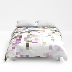 Pixelated Comforters by ARTbyJWP from Society6 #colors #squares #pixels #minimal #pastels #bedroom #comforters  ----   Our comforters are cozy, lightweight pieces of sleep heaven. Designs are printed onto 100% microfiber polyester fabric for brilliant images and a soft, premium touch. Lined with fluffy polyfill and available in king, queen and full sizes. Machine washable with cold water gentle cycle and mild detergent.