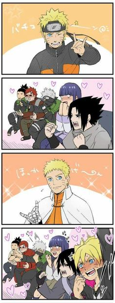 Naruto fanaticcc. You can see Shikamaru is smiling~