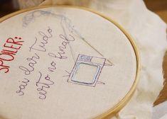 Embroidery, bordado, bastidor, frase, bordado moderno