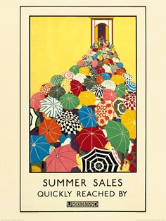 Summer Sales Quickly Reached (medium) Art Print by Transport for London Easyart.com