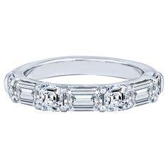 Asscher Cut Diamond Engagement Ring, Platinum Diamond Wedding Band, Engagement Rings, Wedding Sets, Wedding Rings, Right Hand Rings, Eternity Bands, Round Diamonds, Weight Set