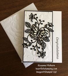 Stampin Up Flourishing Phrases Congratulations Card Idea - Rosanne Mulhern Heartfelt Stamping