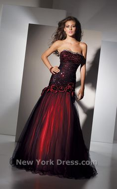 Pretty red fit-and-flare...Alyce 5456