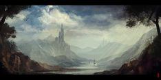 Landscape Speedpaint by Byzwa-Dher.deviantart.com on @deviantART