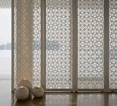 House, Beijing, a restaurant-tea house designed and owned by JinR. The … - Chinese Ideen Screen Design, Wall Design, House Design, Wooden Screen, Metal Screen, Partition Screen, Peking, Screen House, Restaurant Lighting