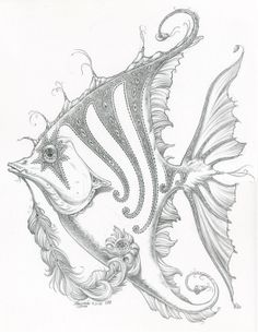 Angel Fish Drawing