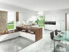 walnut and white kitchen - Google Search