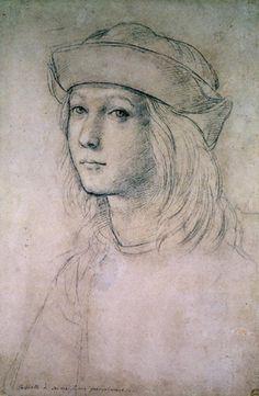 Raphael   probable self portrait in his teens 1490s