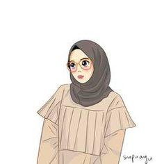 by ayusufaah on DeviantArt Girl Cartoon, Cartoon Art, Art Hoe Aesthetic, Gray Aesthetic, Hijab Drawing, Best Friend Drawings, Islamic Cartoon, Hijab Cartoon, Islamic Art