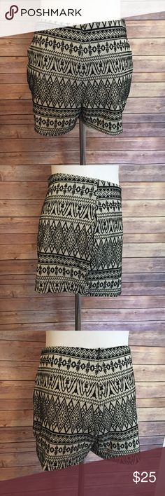 High waisted Aztec velvet print shorts Super cute boho Aztec print shorts perfect for spring or summer! Ark & Co Shorts