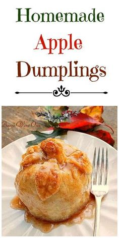 Homemade Apple Dumplings Is there anything better than a warm Homemade Apple Dumpling Not today there isnt! You ll love these easy delicious bundles of apple cinnamon bliss! Fruit Recipes, Apple Recipes, Fall Recipes, New Recipes, Dessert Recipes, Cooking Recipes, Favorite Recipes, Apple Desserts, Amish Recipes