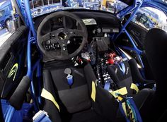 Inside a Scooby rally car