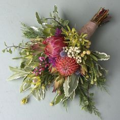 Growing and arranging beautiful Australian Native Flowers and all things Proteaceae. Protea Wedding, Bush Wedding, Rustic Wedding Flowers, Bridal Flowers, Flower Bouquet Wedding, Bridal Bouquets, Flower Decorations, Wedding Decorations, Protea Bouquet