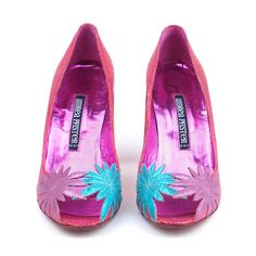 Vintage ANDREA PFISTER 80s Peep-Toe Applique Pumps from The Way We Wore
