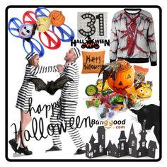 """BANGGOOD #12"" by nizaba-haskic ❤ liked on Polyvore featuring Crate and Barrel, Halloween, dresses, BangGood and halloweencostume"
