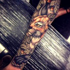 "bitofanink: "" Tattoo Masters Tattoo done by Tom Bartley. @tom_bartley via Tumblr… #animal_tattoo_sleeve"