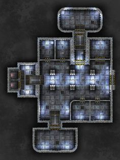 Billedresultat for rpg bunker map Rpg Cyberpunk, Top Down Game, Space Map, Ship Map, Minecraft Banner Designs, Sci Fi Games, Sci Fi Rpg, Building Map, Edge Of The Empire