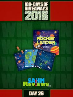 Day 26 gives you a chance to win Griddly Game's brand new game, Rocket Lander! Go enter now!