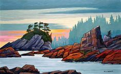 Nicholas Bott   OIL                     Sunset on West Coast