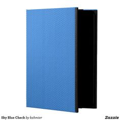 Sky Blue Check iPad Air Cases
