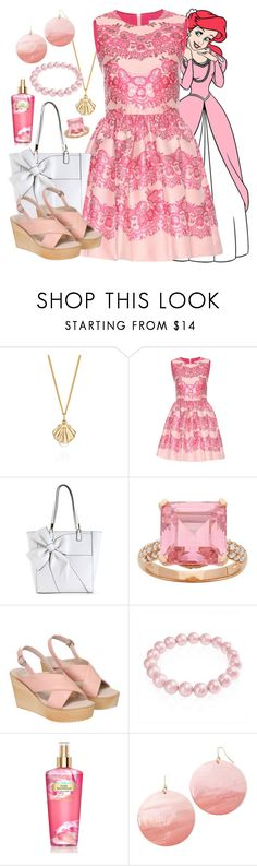"""""""Ariel - Formal - Disney Bound"""" by rainbowbaconcupcake ❤ liked on Polyvore featuring Lee Renee, RED Valentino, Bling Jewelry, Victoria's Secret and Mixit"""