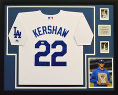 3-time Cy Young (and more coming) #ClaytonKershaw of the #Dodgers #FramedJersey #JerseyFraming