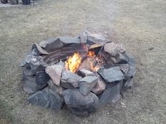 Rustic back yard fire pit...all DIY