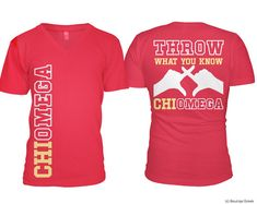 ChiO Chi Omega Throw What You Know Vneck Sorority by BoutiqueGreek