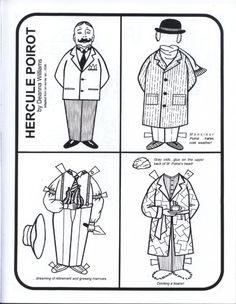 Poirot paper doll printable