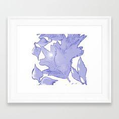 Frozen leafs Framed Art Print