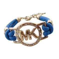 Michael Kors Rhinestone Logo Blue Bracelets